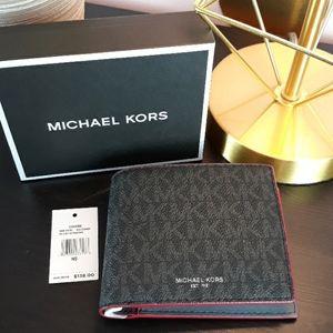 NWT Michael Kors Mens Sig. Cooper Billfold Wallet